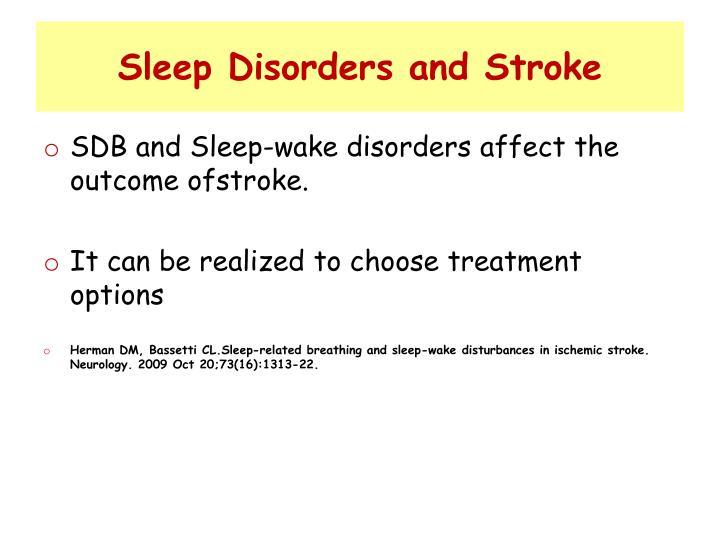 Sleep Disorders and Stroke