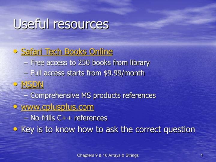 useful resources n.