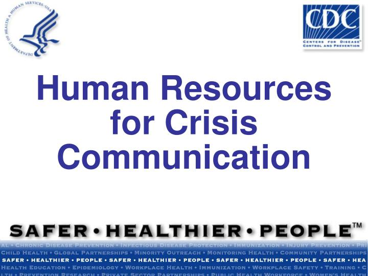 human resources for crisis communication n.