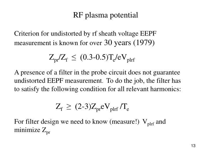 RF plasma potential