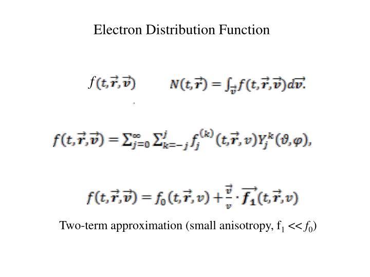 Electron Distribution Function