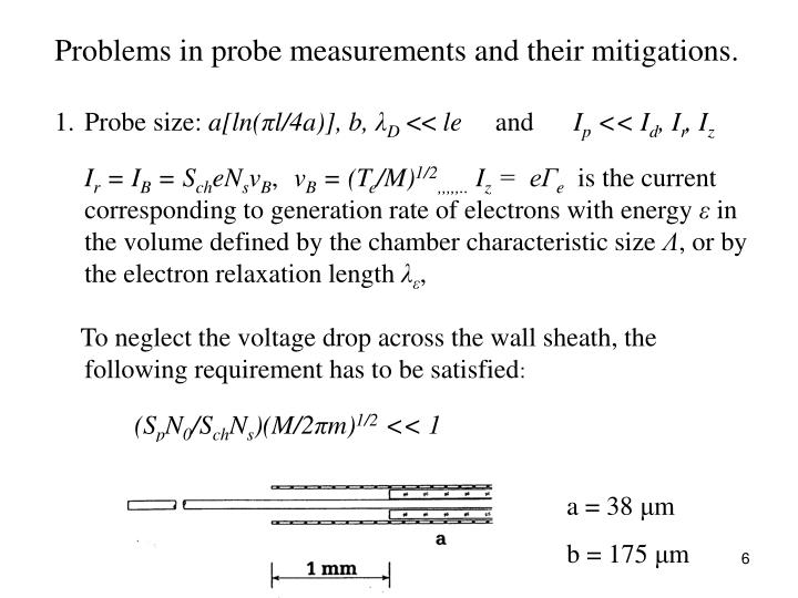 Problems in probe measurements and their mitigations.