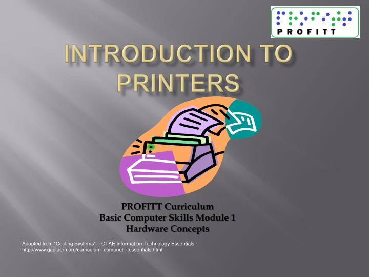 introduction to printers n.
