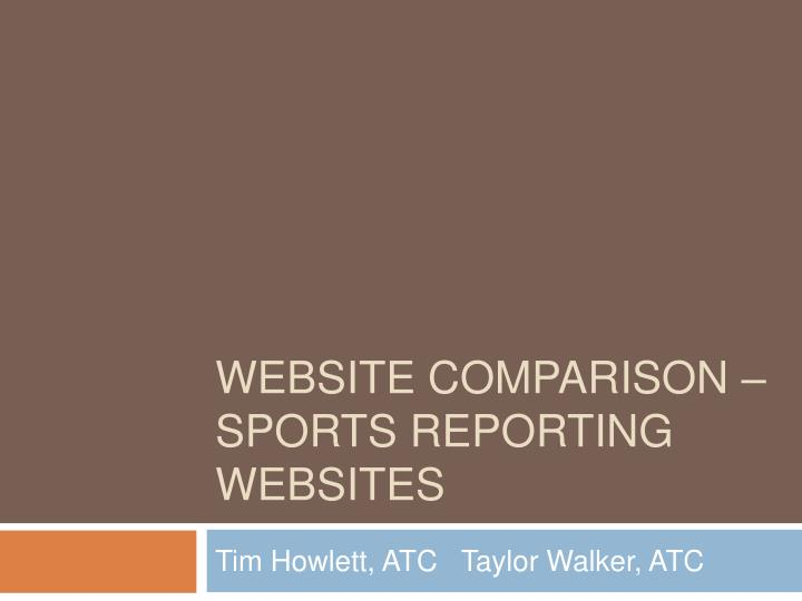 website comparison sports reporting websites n.