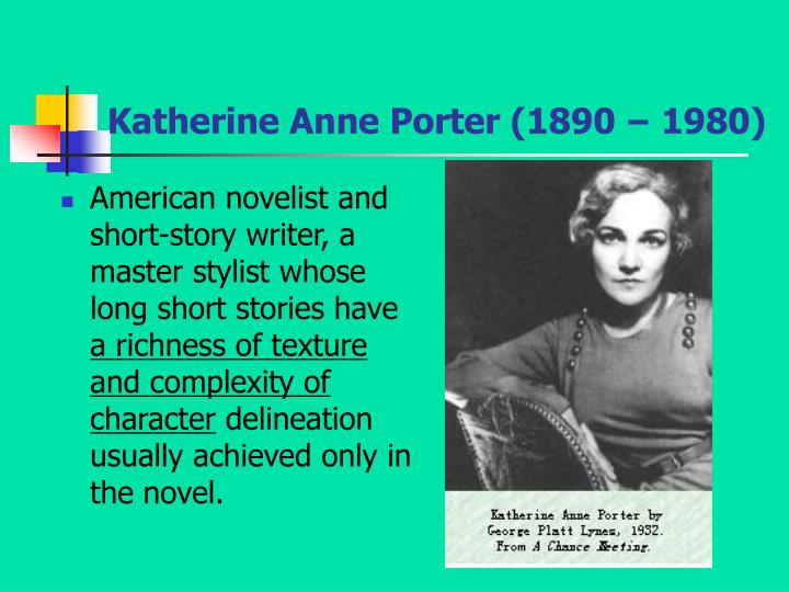 katherine anne porters rope essay View and download susan glaspell essays examples also discover topics,  katherine anne porter adolf  corpse strangled with the rope still around his.