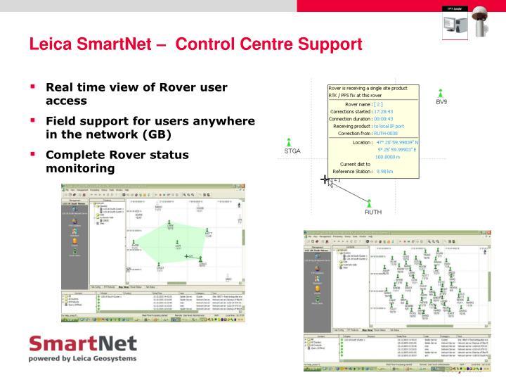 Leica SmartNet –  Control Centre Support