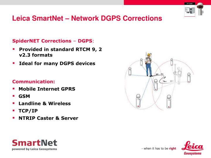 Leica SmartNet – Network DGPS Corrections
