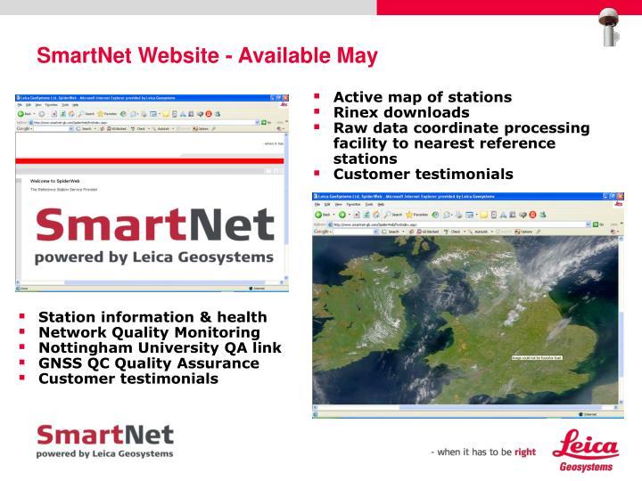 SmartNet Website - Available May