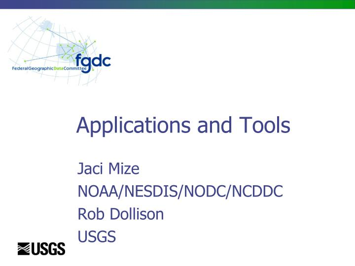 applications and tools n.