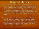 history of shariah