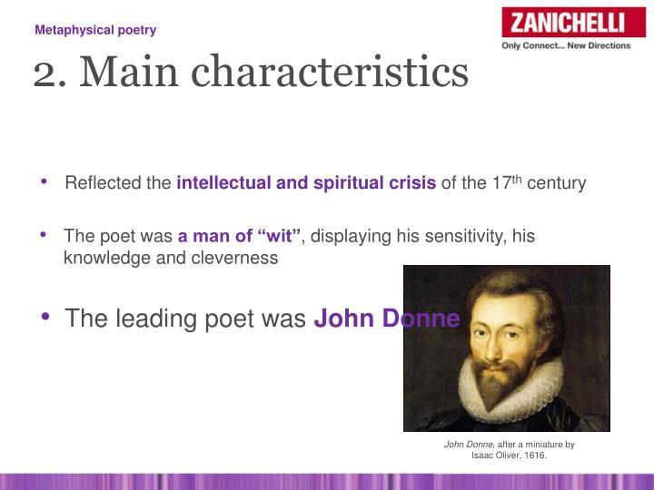 john donne poetry characteristics