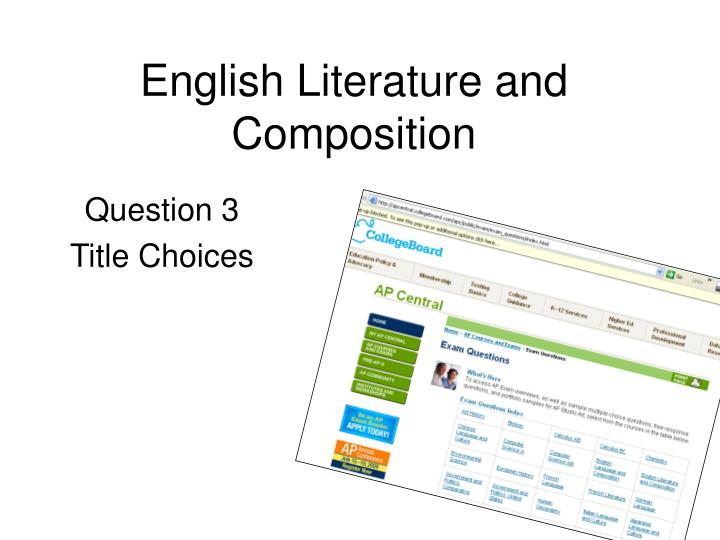 english literature and composition n.