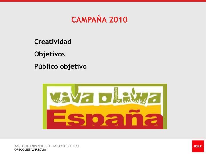 CAMPAÑA 2010