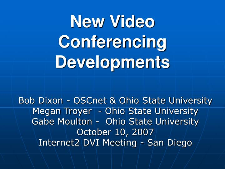 new video conferencing developments n.
