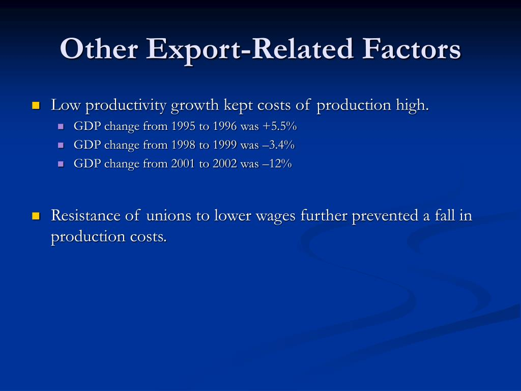 Other Export-Related Factors