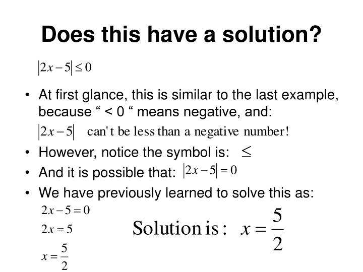 Does this have a solution?