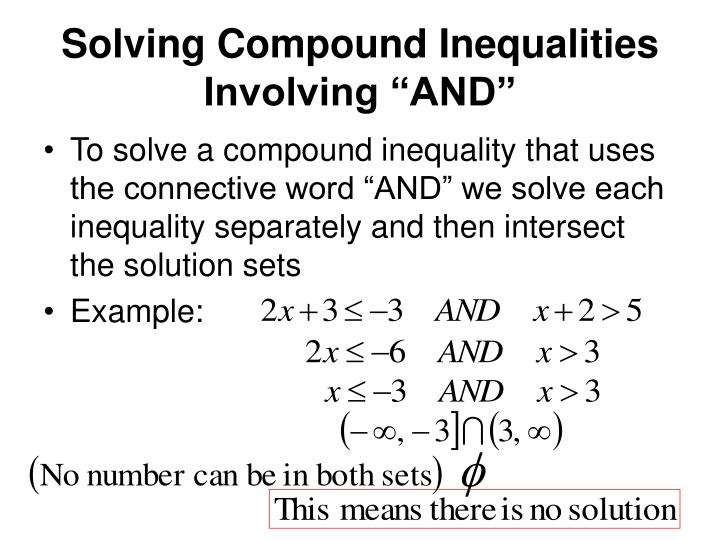 """Solving Compound Inequalities Involving """"AND"""""""