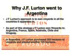 why j f lurton went to argentina