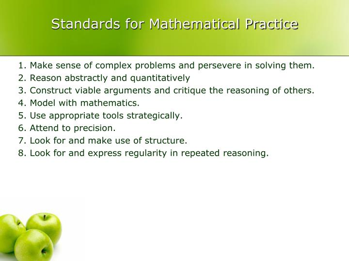 standards for mathematical practice n.