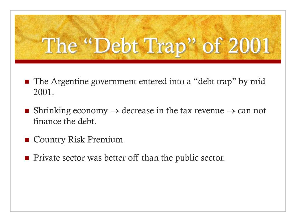 """The """"Debt Trap"""" of 2001"""