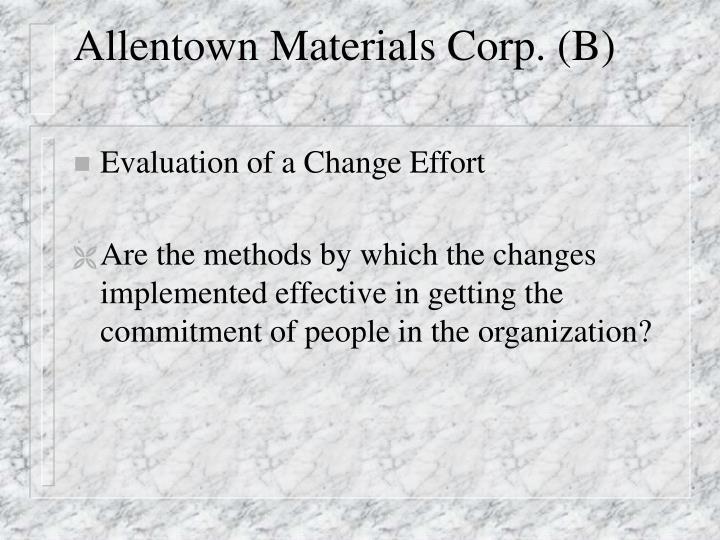 Allentown materials corp b1