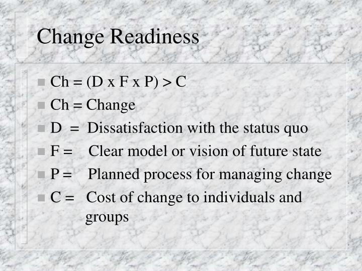 Change Readiness