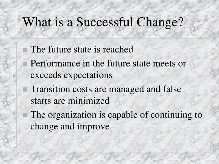 What is a Successful Change?