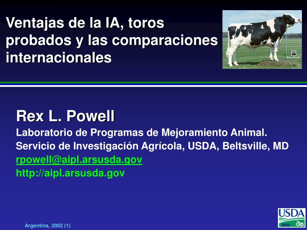 ventajas de la ia toros probados y las comparaciones internacionales l.