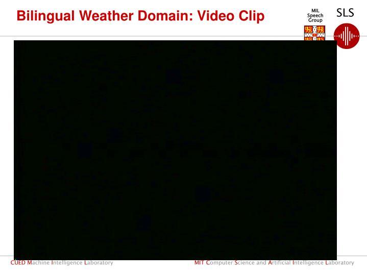 Bilingual Weather Domain: Video Clip