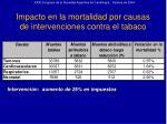 impacto en la mortalidad por causas de intervenciones contra el tabaco