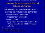intervenciones para el control del tabaco demanda26