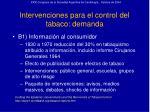intervenciones para el control del tabaco demanda27