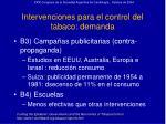 intervenciones para el control del tabaco demanda29