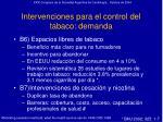 intervenciones para el control del tabaco demanda31