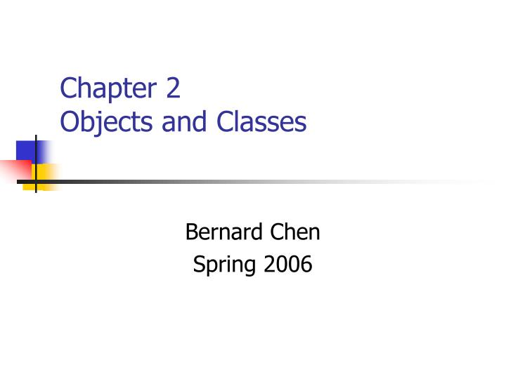 chapter 2 objects and classes n.