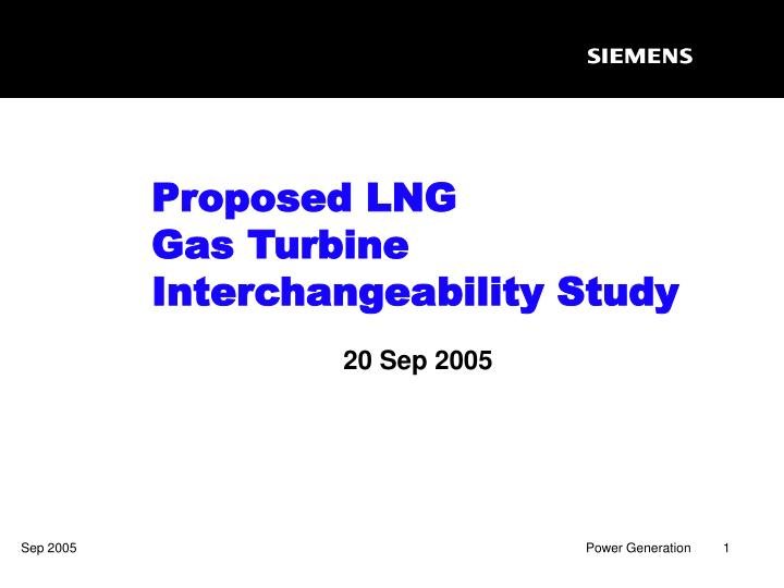 proposed lng gas turbine interchangeability study n.