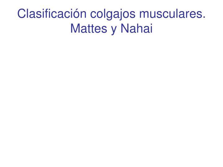 Clasificación colgajos musculares.