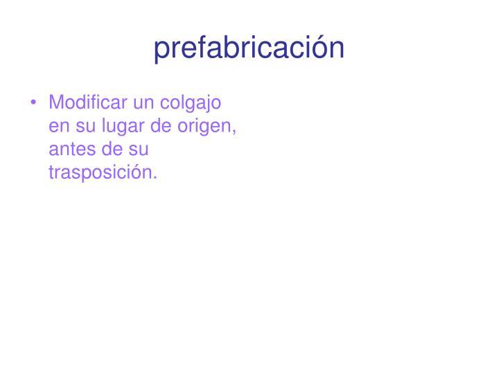 prefabricación
