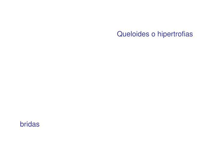 Queloides o hipertrofias