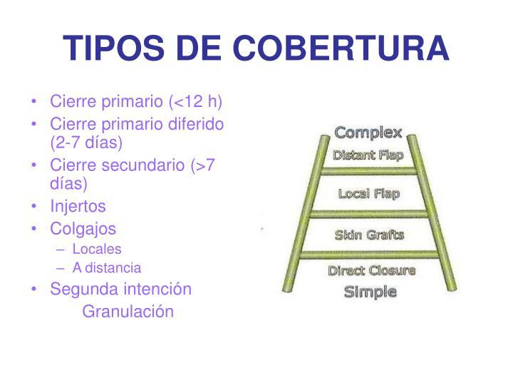 TIPOS DE COBERTURA