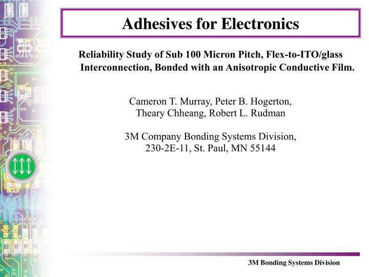 adhesives for electronics n.