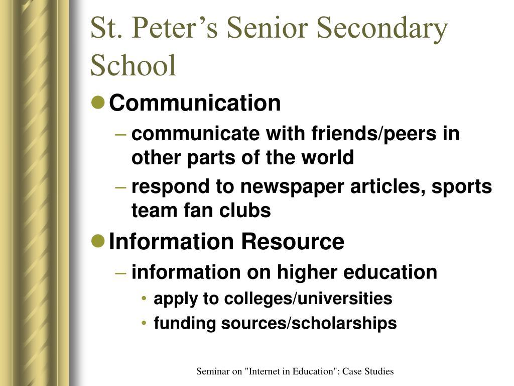 St. Peter's Senior Secondary School