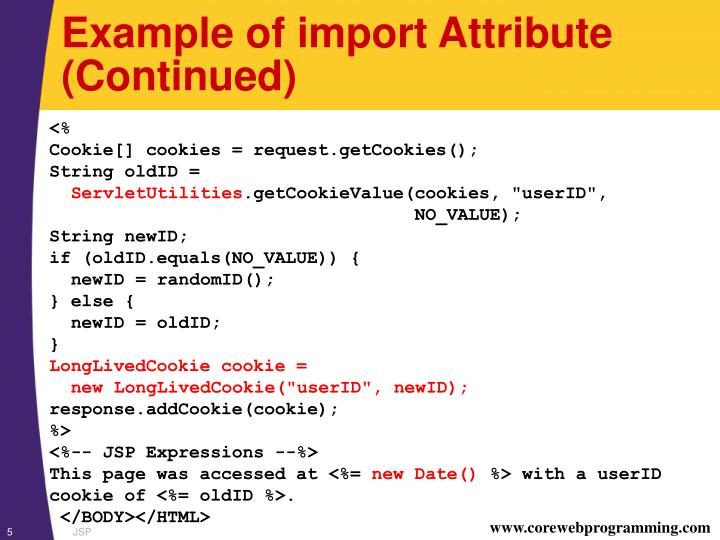 Example of import Attribute (Continued)