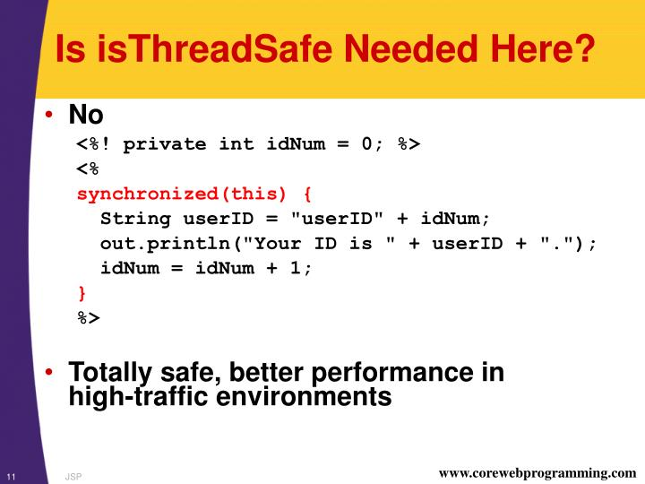 Is isThreadSafe Needed Here?