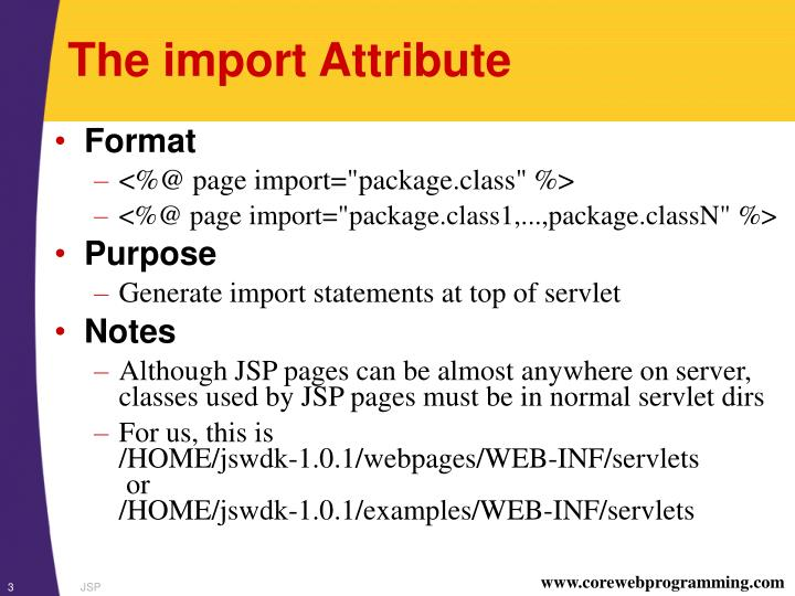 The import attribute