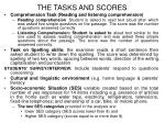 the tasks and scores