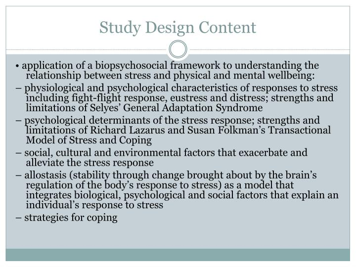 richard lazarus and susan folkman's and Free essay: discuss richard lazarus and susan folkman's and stress and  coping paradigm and in view of this paradigm explain age and.