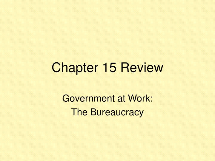 PPT - Chapter 15 Review PowerPoint Presentation - ID:1051462