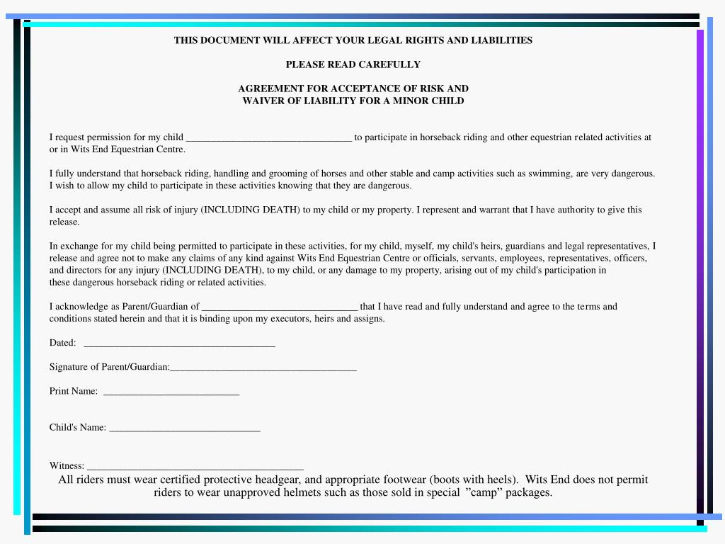 THIS DOCUMENT WILL AFFECT YOUR LEGAL RIGHTS AND LIABILITIES