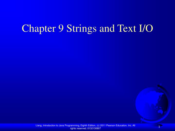 chapter 9 strings and text i o n.